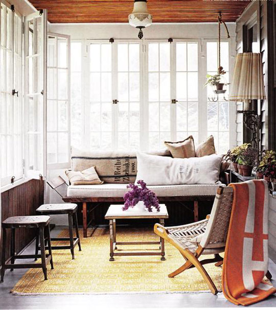 Decor Pad Contemporary Country Enclosed Porch at Home Infatuation Blog