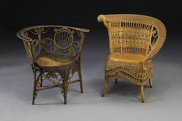Nice Cowan Auctions Victorian Era Outdoor Wicker Furniture At Home Infatuation  Blog