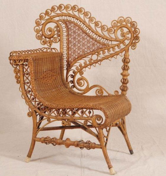 Outdoor Victorian Table: Victorian Era Wicker And Rattan