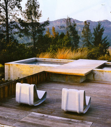 Garden Design Contemporary Metal Outdoor Furniture At Home Infatuation Blog