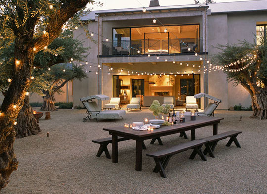 Design 101 String Lights Over Large Outdoor Spaces Home Infatuation Blog