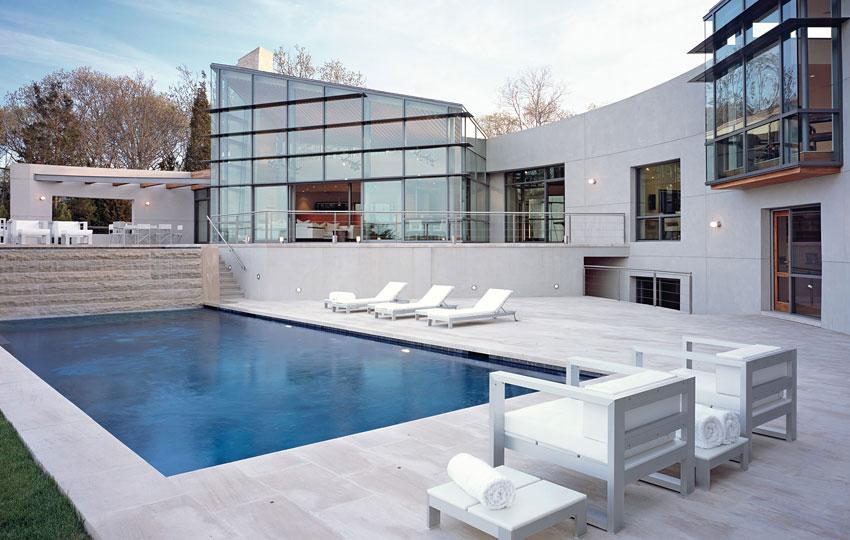 Design 101 all white pool side home infatuation blog for Pool design 101