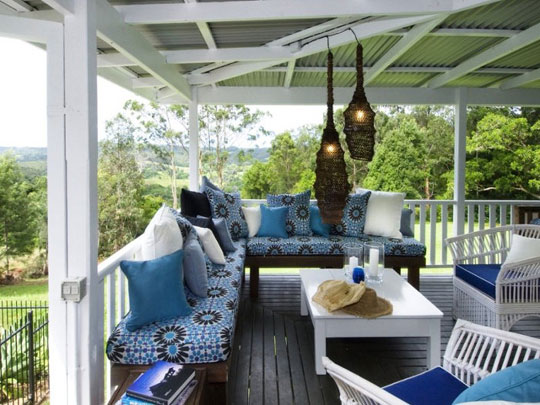 Desire to Inspire Pattern in Outdoor Cushions at Home Infatuation Blog