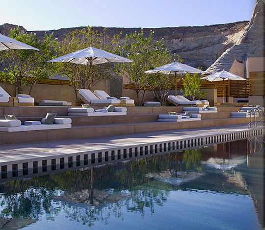 Amangiri Luxury Hotel Outdoor Bolster Pillows At Home Infatuation Blog