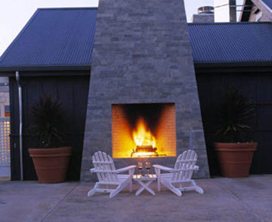 The Carneros Inn Luxury Hotel Outdoor Fireplaces at Home Infatuation Blog