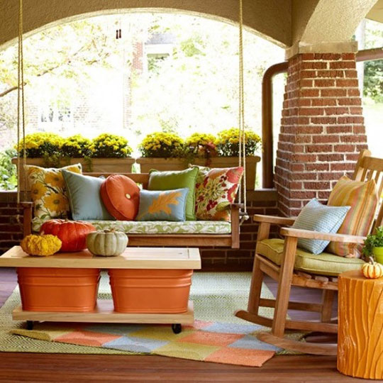 Shelterness Fall Outdoor Decorating at Home Infatuation Blog