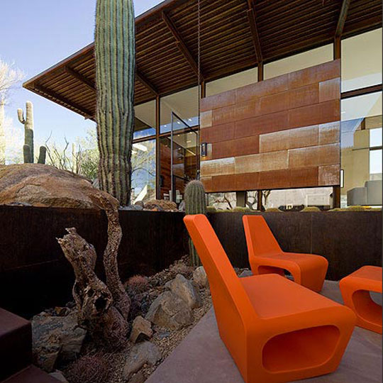 Lake Flat Architects Orange Outdoor Spaces at Home Infatuation Blog