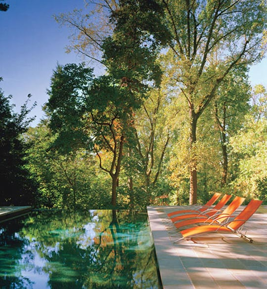 Orange in Contemporary Outdoor Design at Home Infatuation Blog