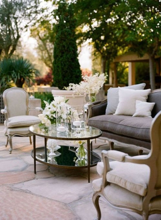 Classic French Provincial Outdoor Furniture at Home Infatuation Blog