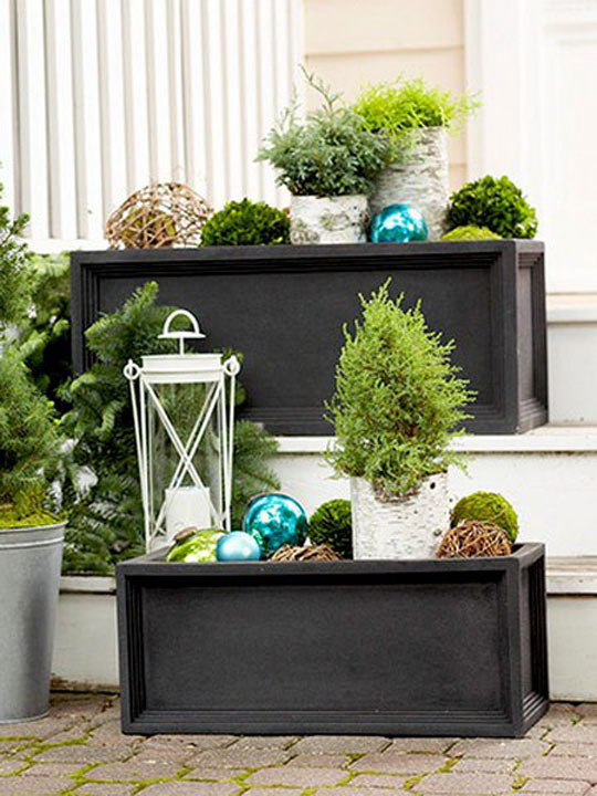 Luxury Outdoor Holiday Decorating Window Boxes at Home Infatuation Blog
