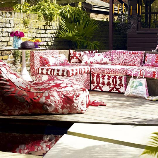 Red in Luxury Contemporary Outdoor Spaces at Home Infatuation Blog