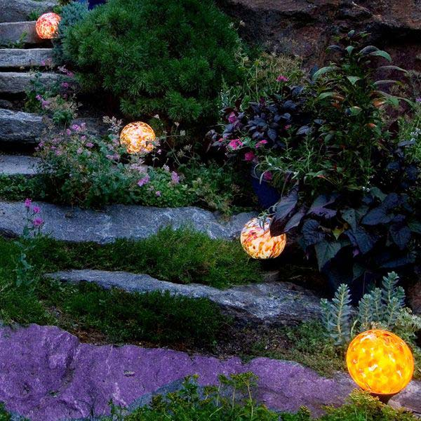 Discover Hand Blown Glass Orb Garden Lights Home Infatuation