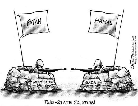 Image result for Hamas-Fatah CARTOON