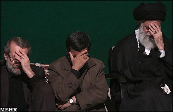 LARIJANI+AHMADINEJAD+KHAMENEI2
