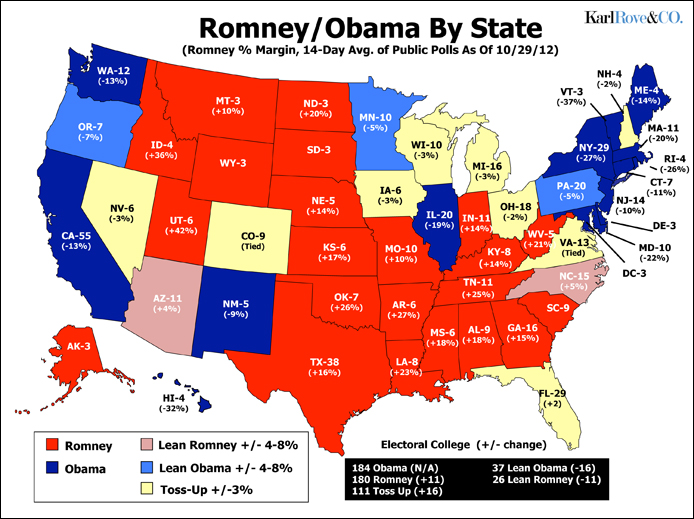 EA WorldView Home US Elections Why Obama Should Win - Map of us election 2012