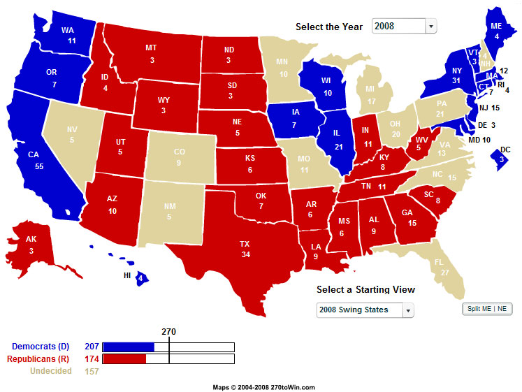 EA WorldView Home An Introduction To Todays US Elections - Us elections map now