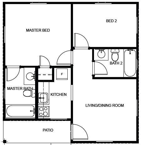 Affordable Housing Floor Plan 600 Sq Ft House