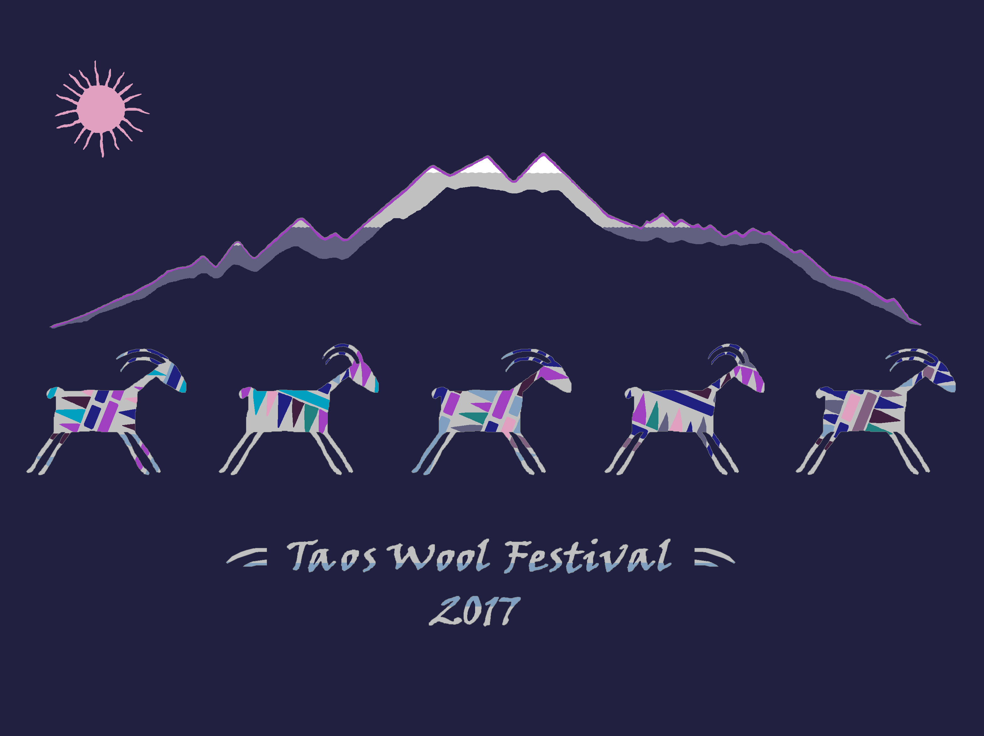 2017 Taos Wool Festival T-Shirt Artwork Winner
