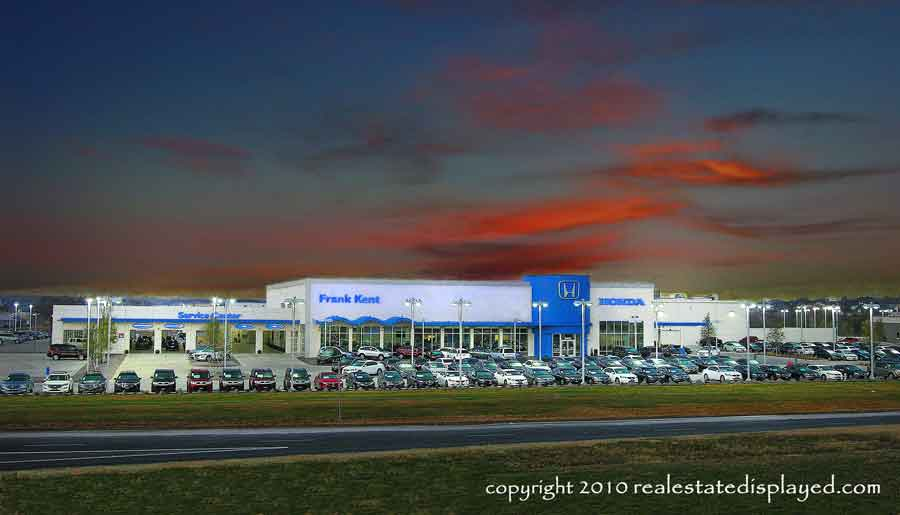 Recently Frank Kent Honda Opened Their New 12 Acre Dealership On West 820  And Camp Bowie West. We Photographed This Twilight Image.