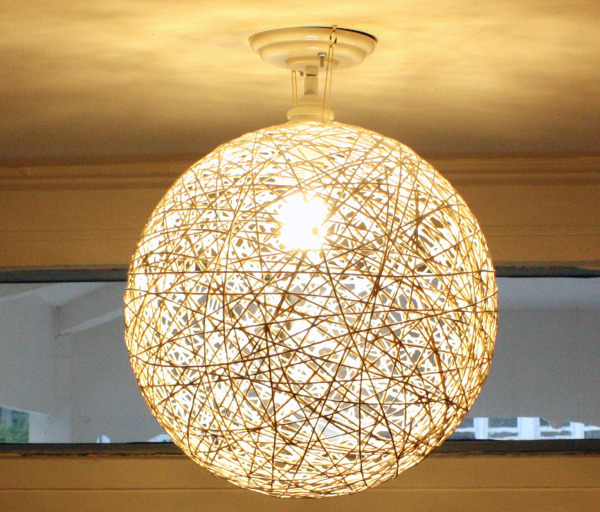 Diy string globe shade blog wicked mint - Diy lamp shade ...