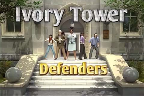 Ivory Tower Defenders iPhone and Android game title screen