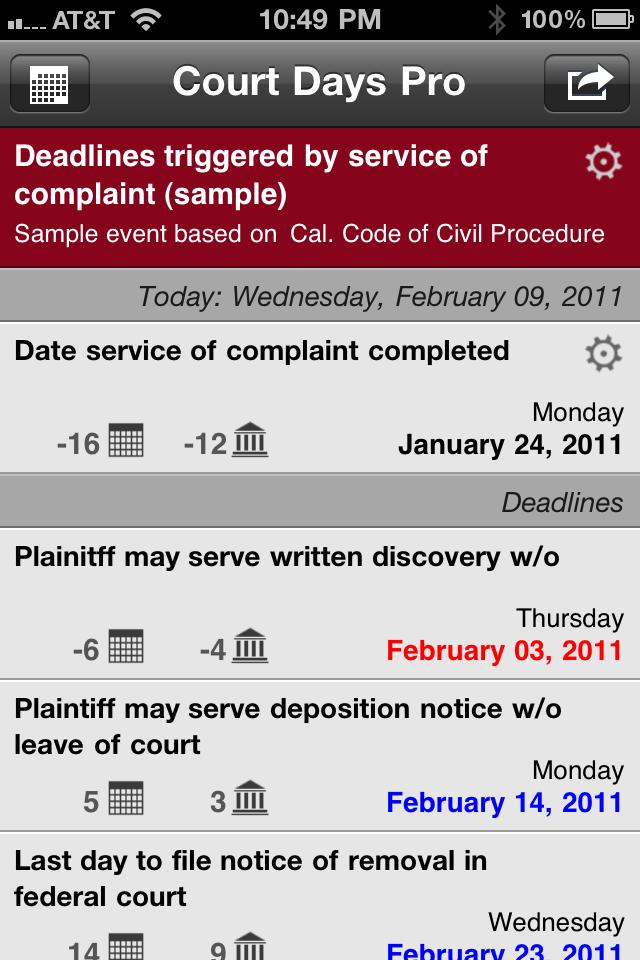 Court Days Pro
