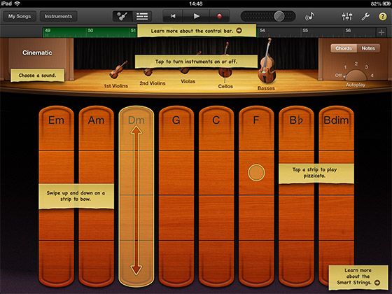Smart Strings iPad GarageBand Tutorial