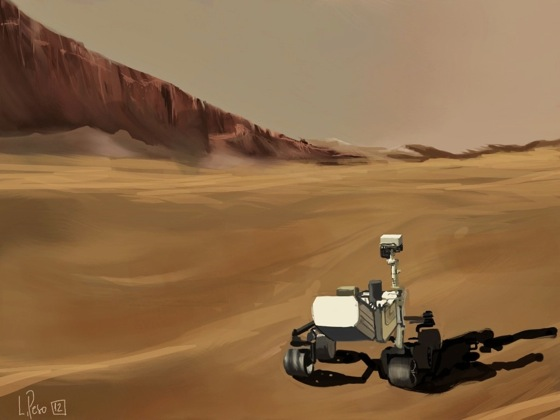 Mars Curiosity iPad Painting