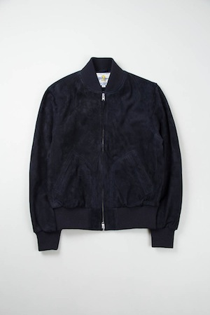 Inventory Magazine   Inventory Updates   Golden Bear Sportswear Navy Suede  Zip Front Baseball Jacket