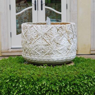 An entrance fountain in Marin