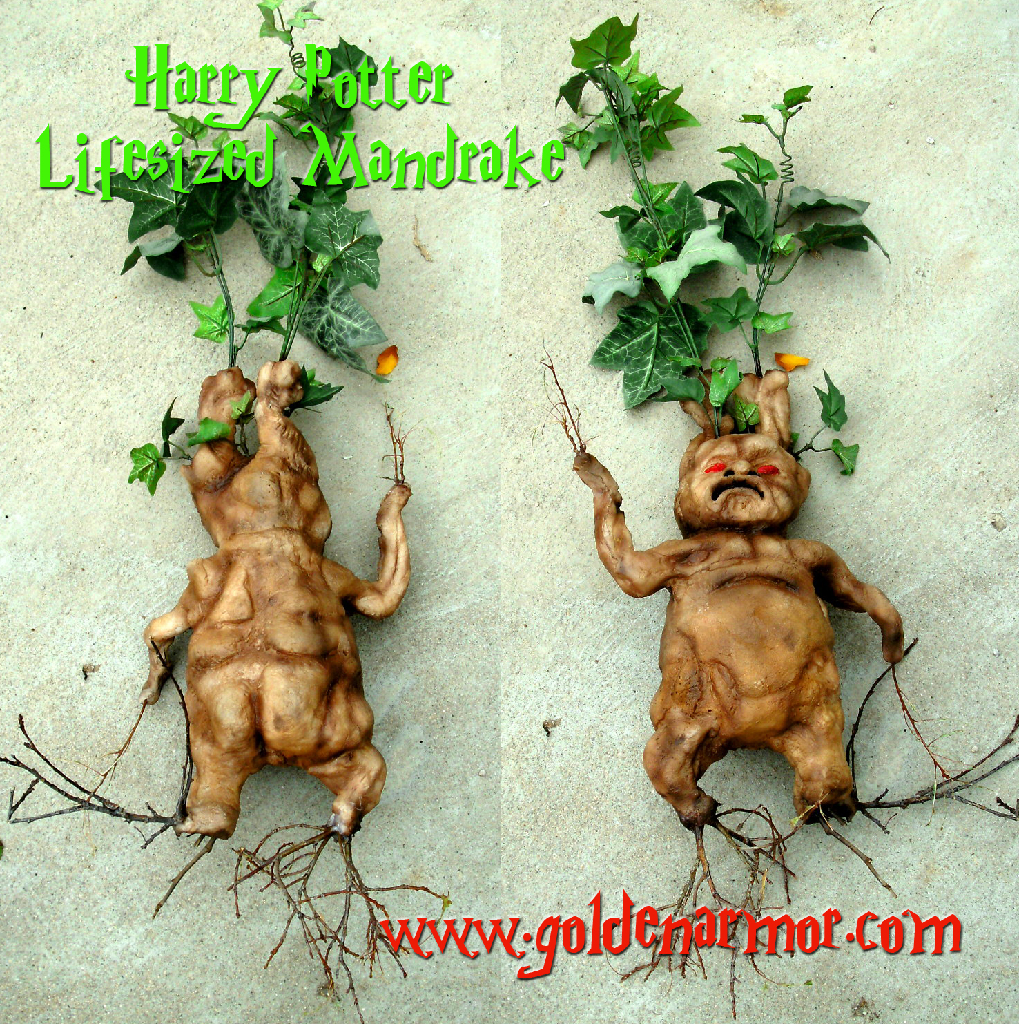 Harry Potter Mandrake Root Mandrake Root Prop Replicas Custom