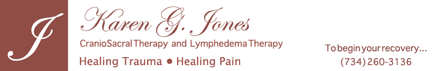 Karen Jones CranioSacral and Lymphedema Therapy Ann Arbor Michigan