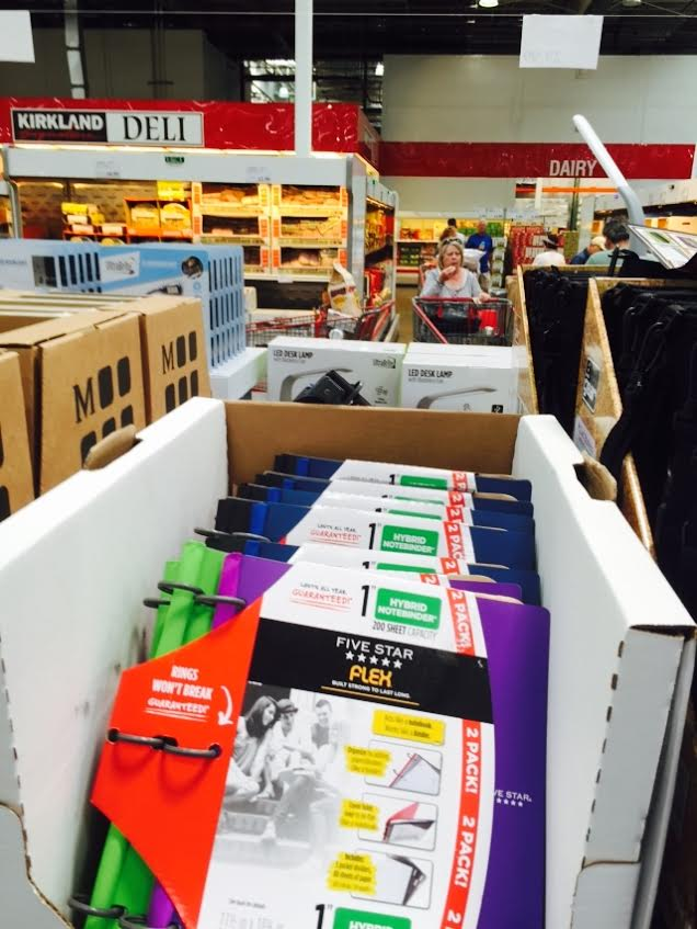 cam and i stopped into costco the other day and got some really good deals on school supplies