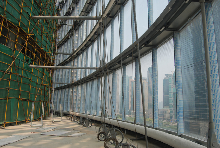 Inner Curtain Wall : Shanghai tower the curtain wall urban planning and