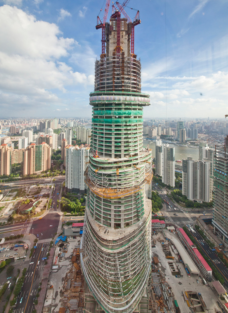 Shanghai Tower View From The Top Urban Planning And