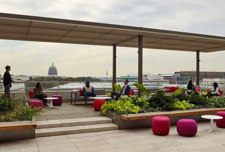 Rooftop retreat for a d c not for profit workplace for 12 terrace road post office