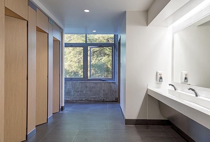 multi stall unisex bathroom