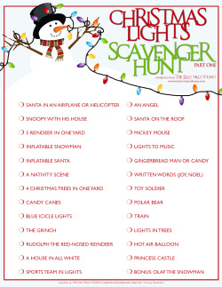 Tactueux image pertaining to christmas light scavenger hunt list printable