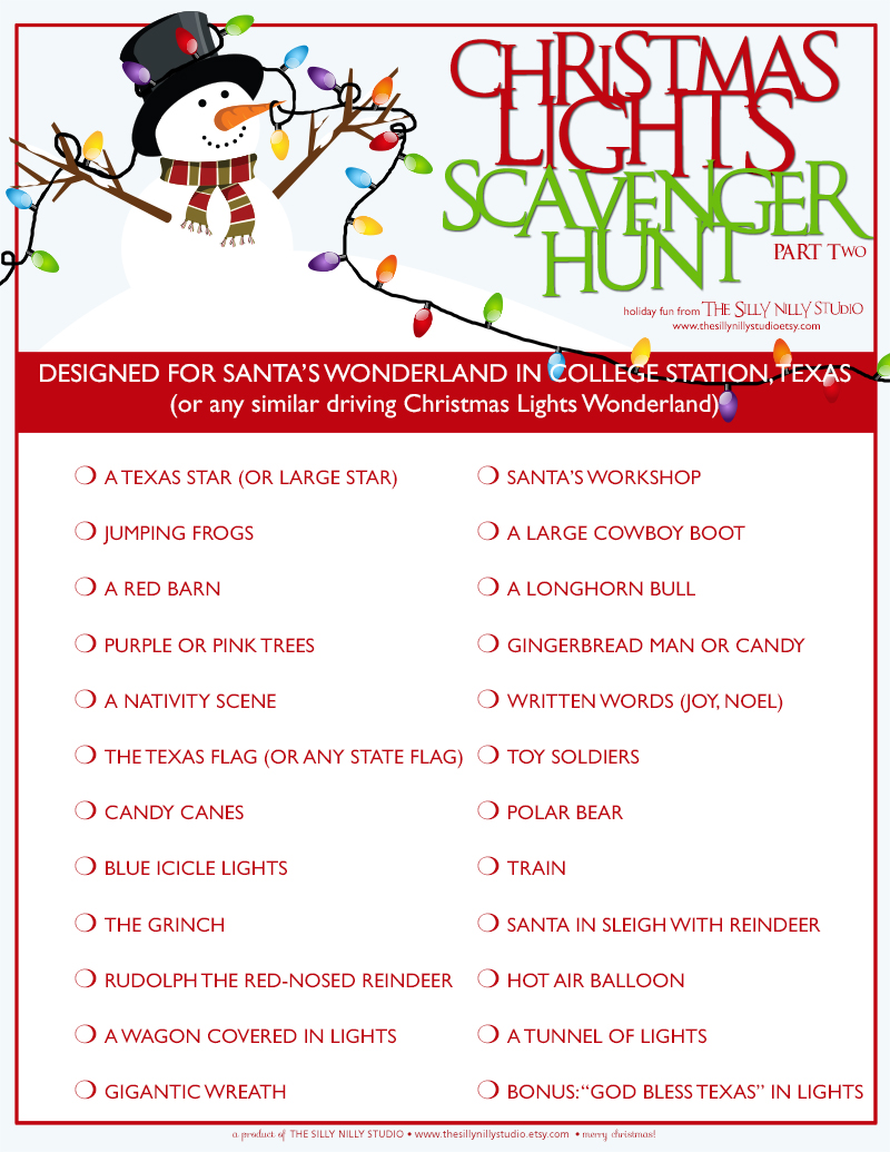 Attractive Christmas Party Scavenger Hunt Ideas Part - 14: As I Mentioned In Day Five Of The Giveaway That One Of Our Favorite Holiday  Traditions Is Jumping In The Car And Looking At The Christmas Lights.