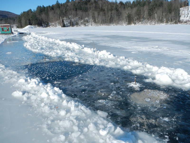 Lake Ice Waterbury Vt