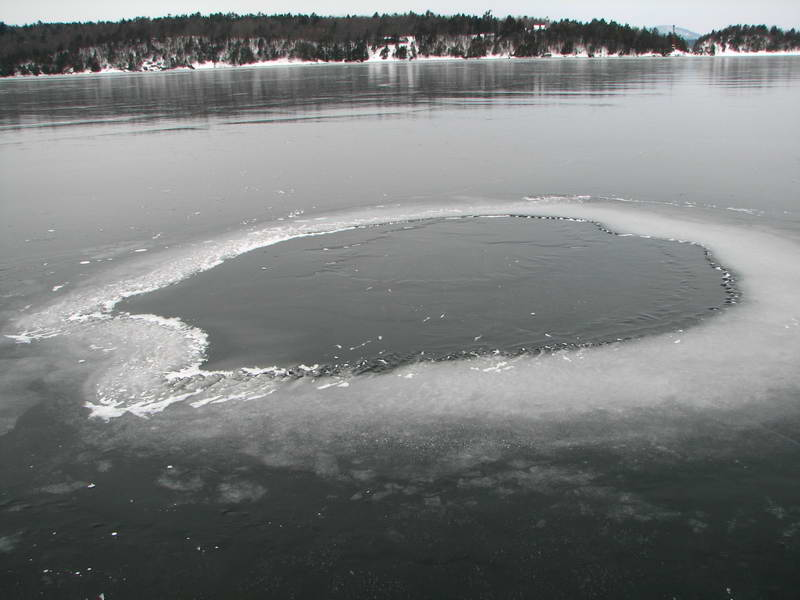 Lake Ice New Ice Holes