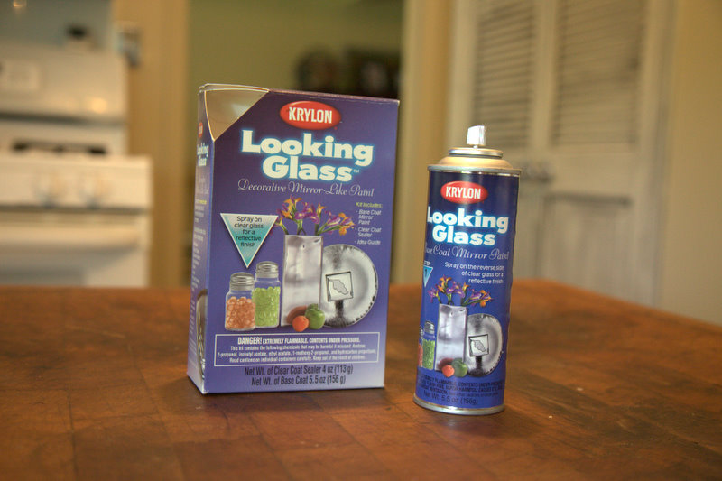 the prodcut i used for the project was the krylon looking glass spray. Black Bedroom Furniture Sets. Home Design Ideas