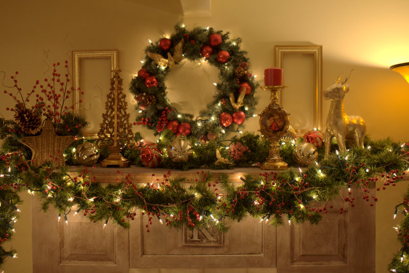Christmas Wreath For Mantle Woestenhoeve