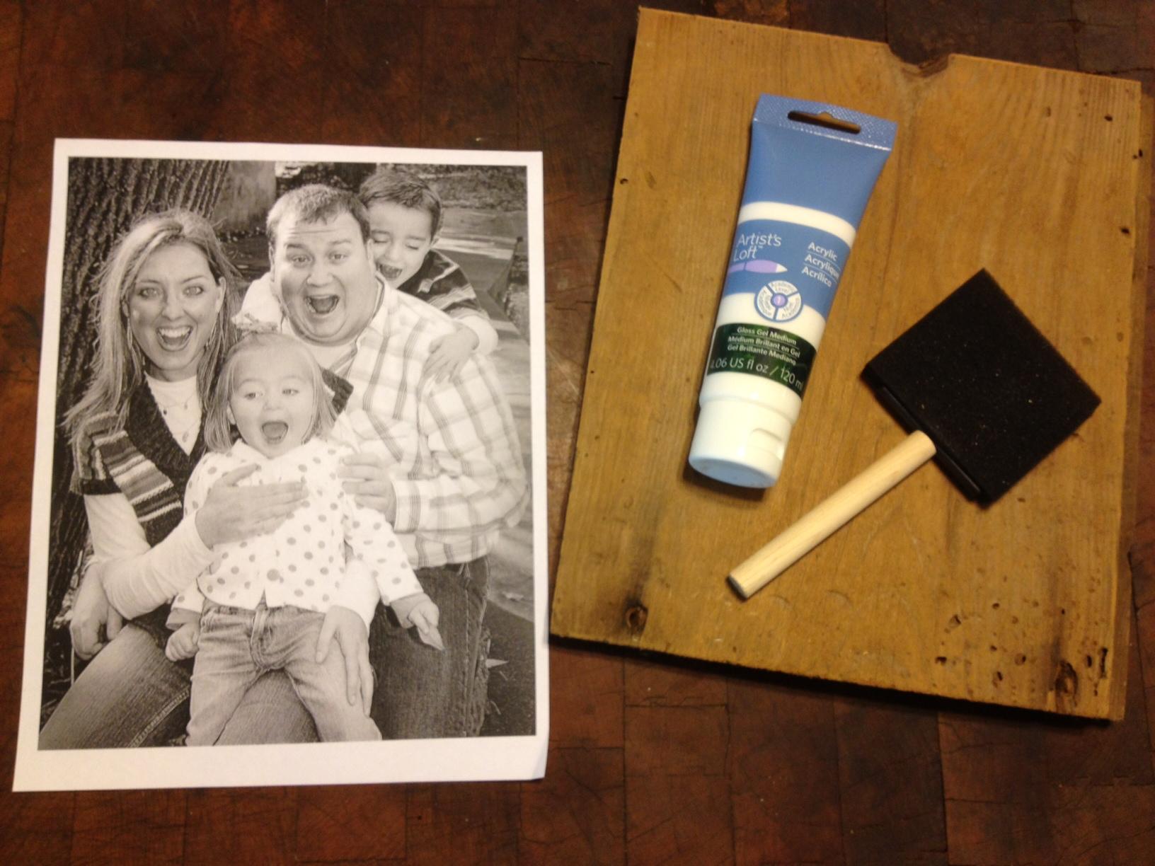 heart break kids blog how to transfer a photo onto wood. Black Bedroom Furniture Sets. Home Design Ideas