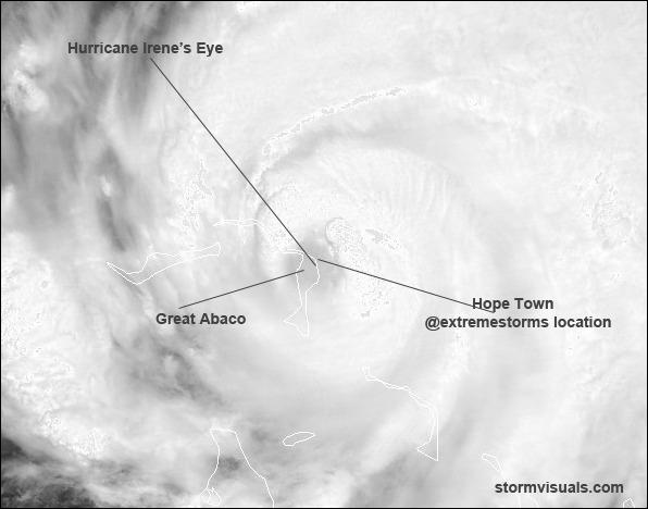 Hurricane Irene eye Over Abaco 2011