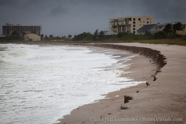 Ft Pierce Beach Erosion October 2011