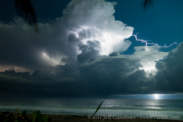 Lightning over Gulf Stream waters
