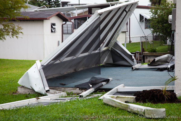 Patio damage from tornado