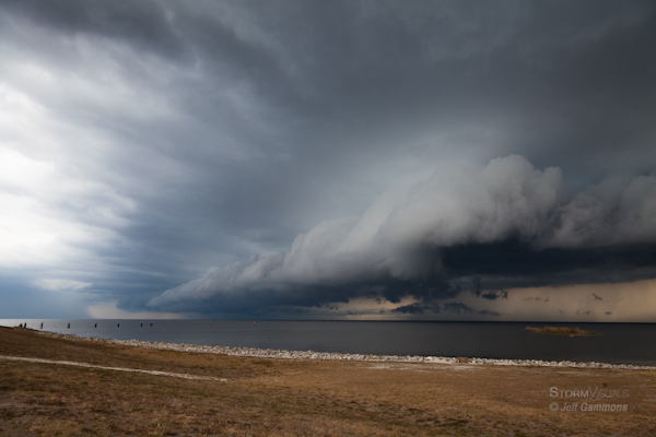 Shelf cloud structure