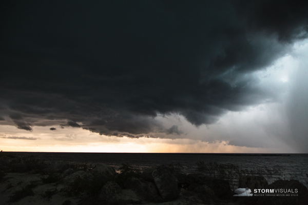 Line of storms over Lake Okeechobee.